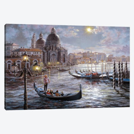 Grand Canal Venice Canvas Print #BOE70} by Nicky Boehme Canvas Print