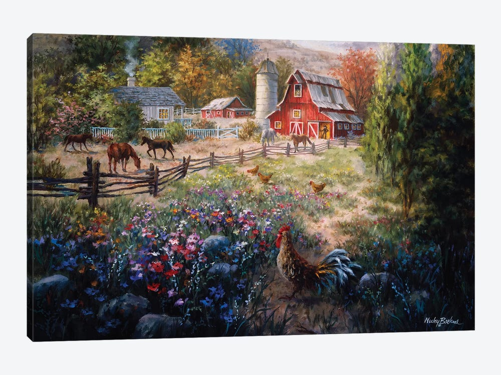 Grazing The Fertile Farmland by Nicky Boehme 1-piece Canvas Art Print
