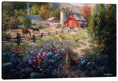 Grazing The Fertile Farmland Canvas Art Print