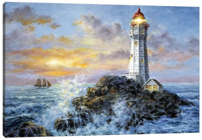 Guardian In Danger's Realm Canvas Print #BOE72