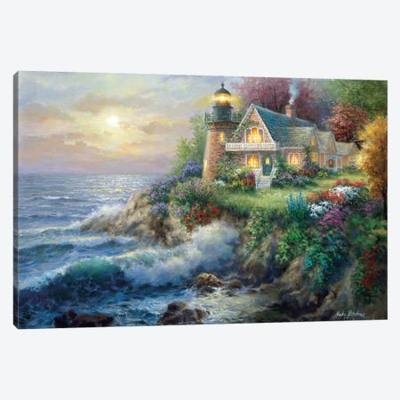 Guardian Of The Sea Canvas Print #BOE73} by Nicky Boehme Canvas Art Print
