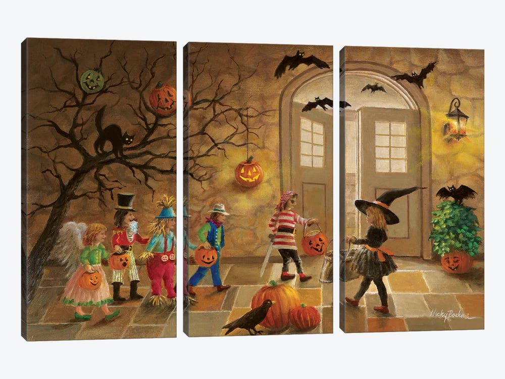 Halloween Fun by Nicky Boehme 3-piece Art Print