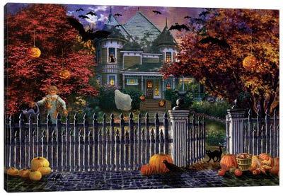 Halloween House Canvas Art Print