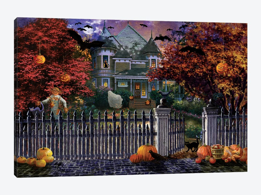 Halloween House by Nicky Boehme 1-piece Canvas Wall Art