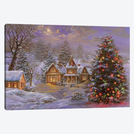 Happy Holidays Canvas Print #BOE77} by Nicky Boehme Canvas Artwork