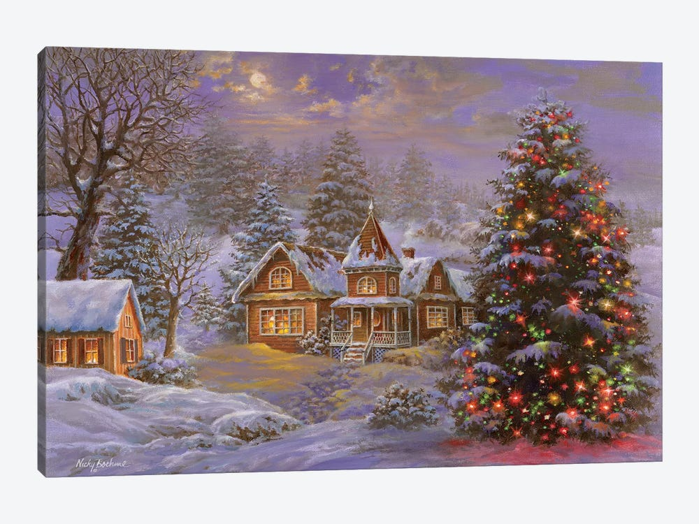 Happy Holidays by Nicky Boehme 1-piece Art Print