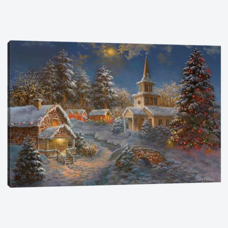 Happy Spirits Await Christmas Canvas Print #BOE78} by Nicky Boehme Canvas Print