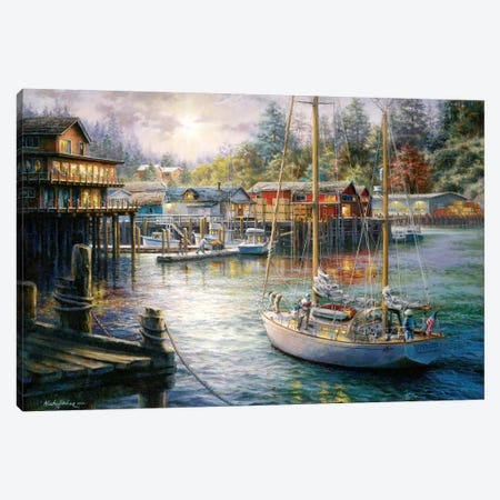 Harbor Canvas Print #BOE79} by Nicky Boehme Canvas Art Print