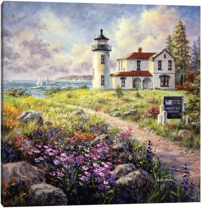 Admiralty Head Lighthouse Canvas Art Print