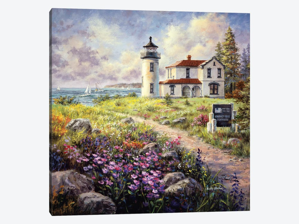 Admiralty Head Lighthouse by Nicky Boehme 1-piece Art Print