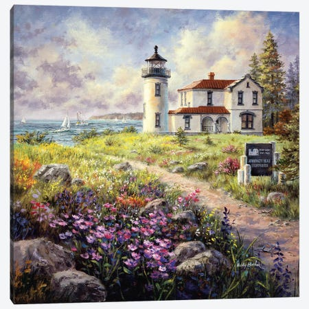 Admiralty Head Lighthouse Canvas Print #BOE7} by Nicky Boehme Canvas Art Print