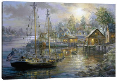 Harbor Town Canvas Print #BOE80