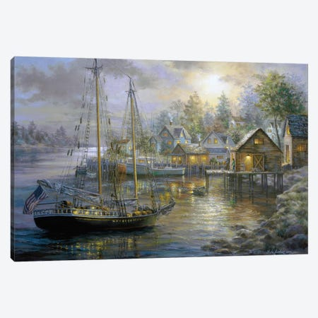 Harbor Town Canvas Print #BOE80} by Nicky Boehme Canvas Wall Art