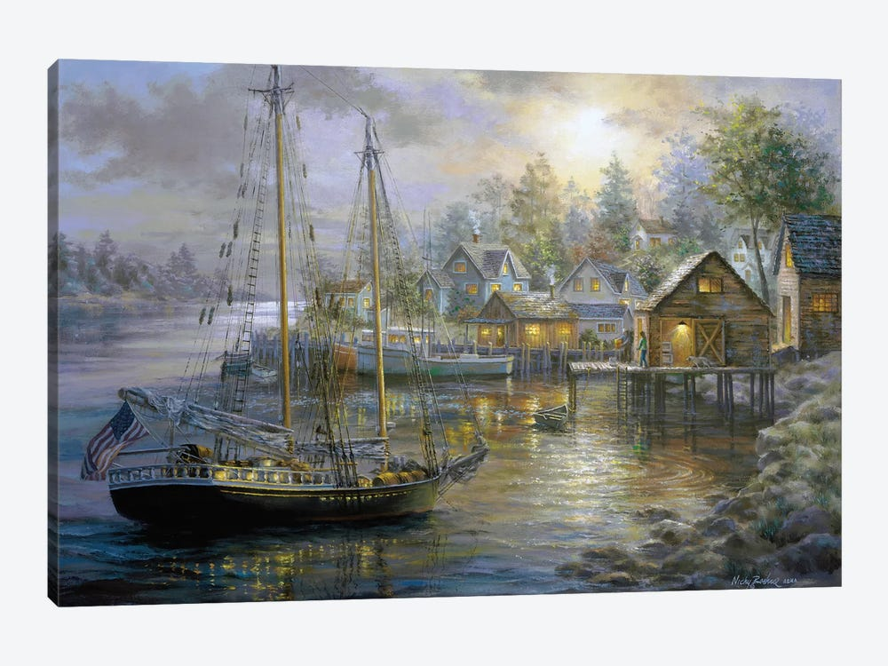 Harbor Town by Nicky Boehme 1-piece Canvas Print