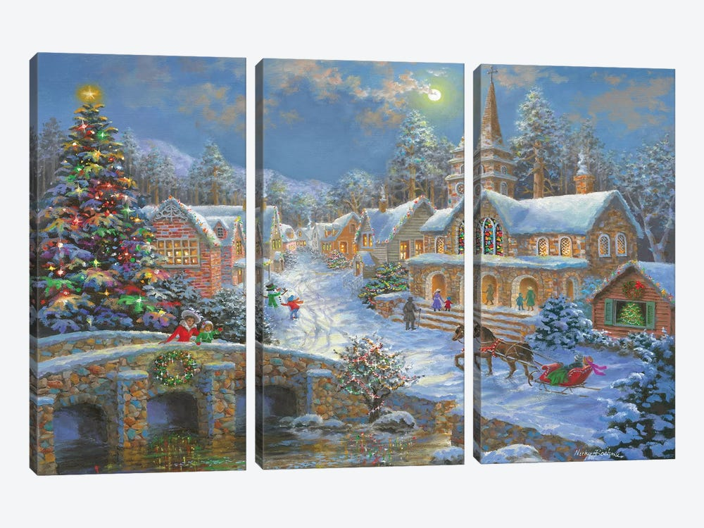 Heaven On Earth II by Nicky Boehme 3-piece Canvas Print
