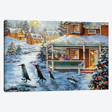 Hey! Wait For Me Canvas Print #BOE83} by Nicky Boehme Canvas Art