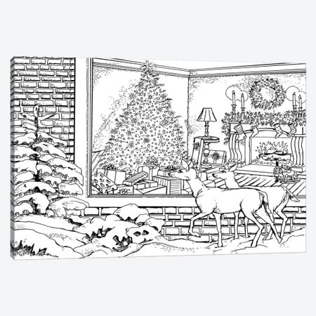 Holiday I 3-Piece Canvas #BOE85} by Nicky Boehme Art Print