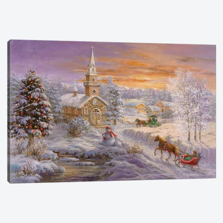 Holiday Worship Canvas Print #BOE87} by Nicky Boehme Canvas Art Print