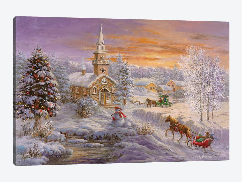 Holiday Worship by Nicky Boehme 1-piece Canvas Artwork