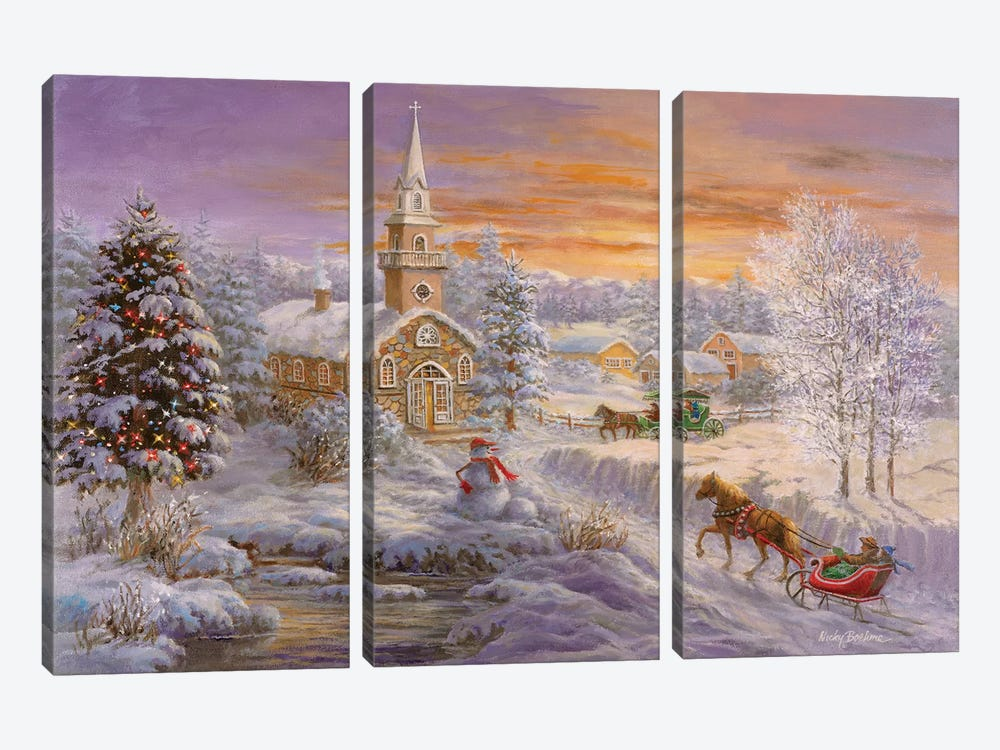 Holiday Worship by Nicky Boehme 3-piece Canvas Art