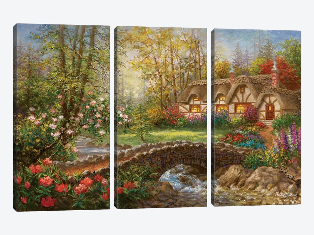Home Sweet Home by Nicky Boehme 3-piece Canvas Art Print