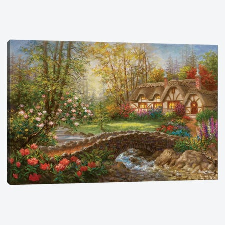 Home Sweet Home Canvas Print #BOE88} by Nicky Boehme Canvas Wall Art