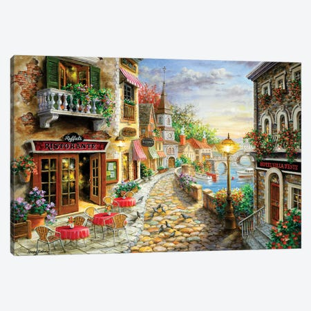 Invitation To Dine Canvas Print #BOE91} by Nicky Boehme Canvas Art Print