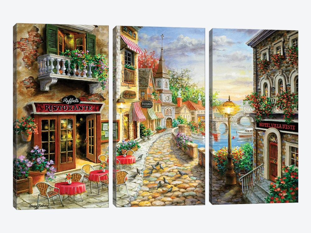 Invitation To Dine by Nicky Boehme 3-piece Canvas Print