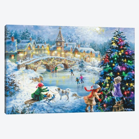 Joyful Celebration Canvas Print #BOE92} by Nicky Boehme Canvas Art Print