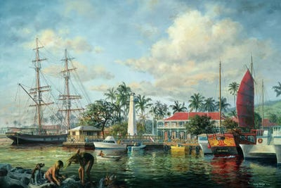 Lahaina Waterfront Maui Canvas Art By Nicky Boehme Icanvas