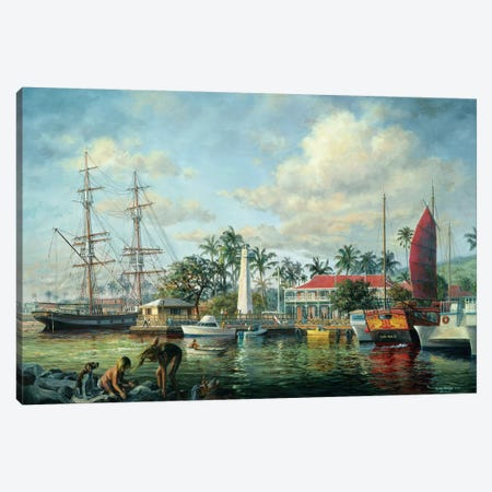 Lahaina Waterfront, Maui Canvas Print #BOE93} by Nicky Boehme Art Print
