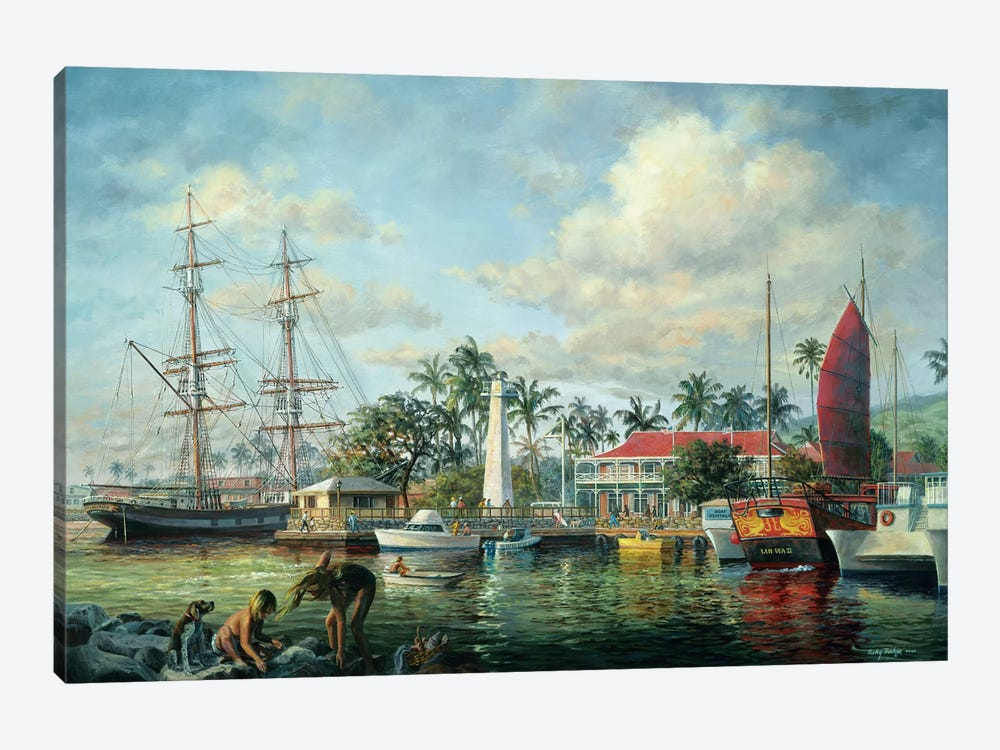 Lahaina Waterfront, Maui by Nicky Boehme 1-piece Canvas Art Print