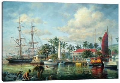 Lahaina Waterfront, Maui Canvas Art Print