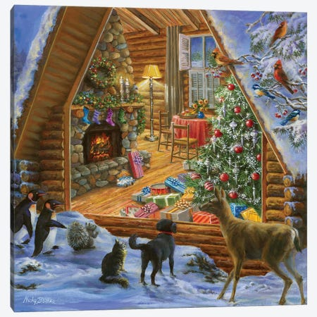 Let's Get Together Canvas Print #BOE94} by Nicky Boehme Canvas Art