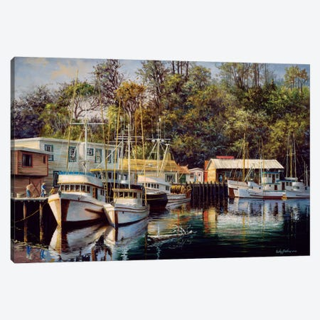 Let's Go Fishing Canvas Print #BOE95} by Nicky Boehme Canvas Artwork