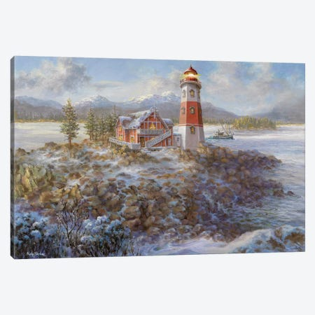 Lighthouse Bluff Canvas Print #BOE96} by Nicky Boehme Canvas Art