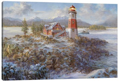 Lighthouse Bluff Canvas Print #BOE96