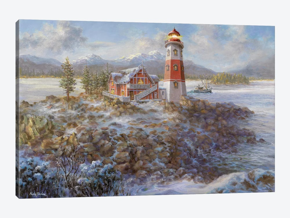 Lighthouse Bluff by Nicky Boehme 1-piece Canvas Wall Art