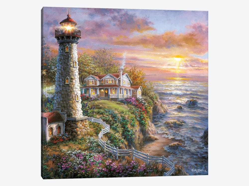 Lighthouse Haven I by Nicky Boehme 1-piece Canvas Art Print