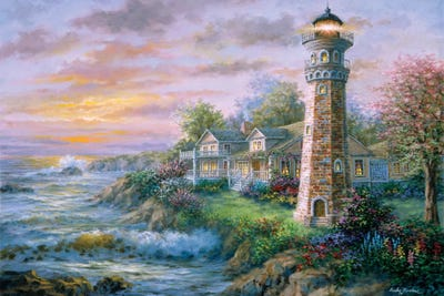 Lighthouse Haven Ii Canvas Print By Nicky Boehme Icanvas