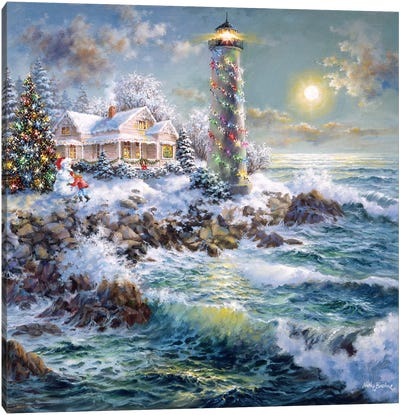 Lighthouse Merriment Canvas Print #BOE99