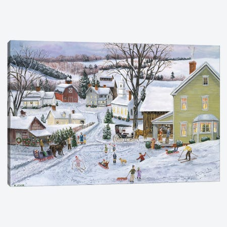 Preparing for Christmas Canvas Print #BOF100} by Bob Fair Canvas Artwork