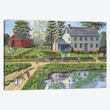 Reflection of Home Canvas Print #BOF102} by Bob Fair Canvas Art