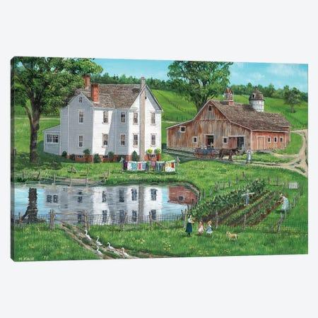 Rural Reflection Canvas Print #BOF104} by Bob Fair Canvas Art Print