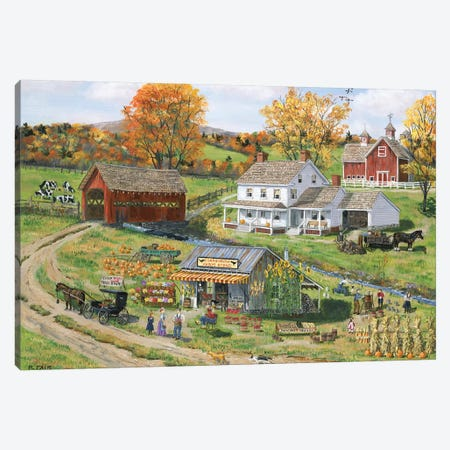 Scarecrow Farm Stand Canvas Print #BOF107} by Bob Fair Canvas Print