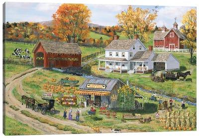 Scarecrow Farm Stand Canvas Art Print