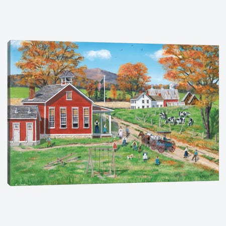 School Days Canvas Print #BOF108} by Bob Fair Canvas Art