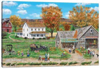 Apple Tree Farm Stand Canvas Art Print