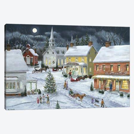 Sleigh Bells Ring Canvas Print #BOF112} by Bob Fair Canvas Art Print