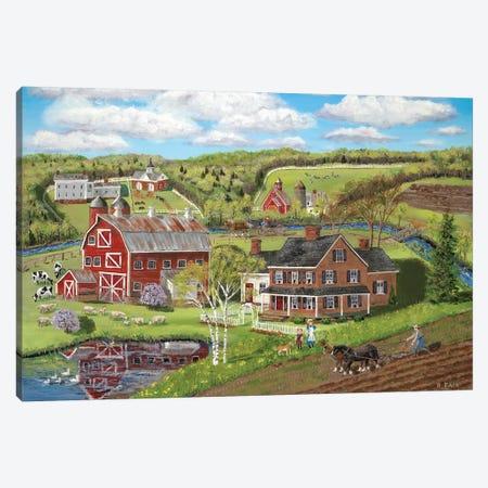 Spring Plowing Canvas Print #BOF117} by Bob Fair Canvas Art